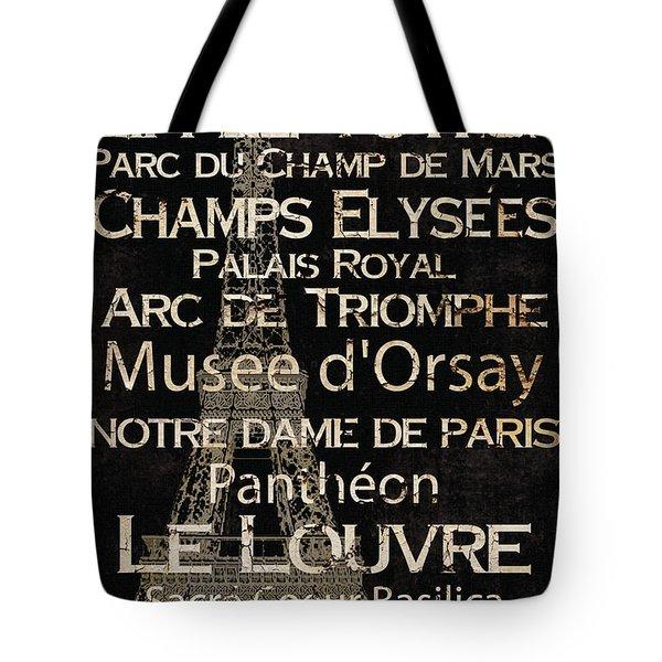Simple Speak Paris Tote Bag by Grace Pullen