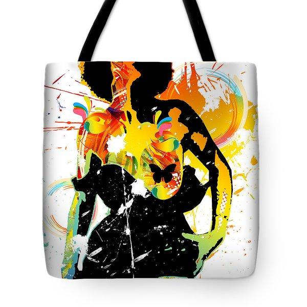 Simplistic Splatter Tote Bag by Chris Andruskiewicz