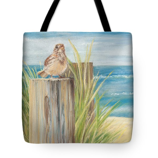 Singing Greeter At The Beach Tote Bag by Michelle Wiarda