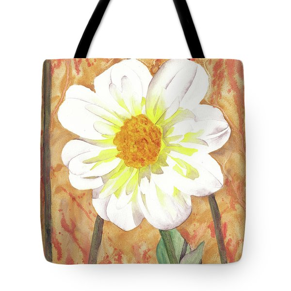 Single White Flower Tote Bag by Ken Powers