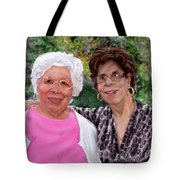 Sisters -commissioned  Tote Bag by Reggie Duffie