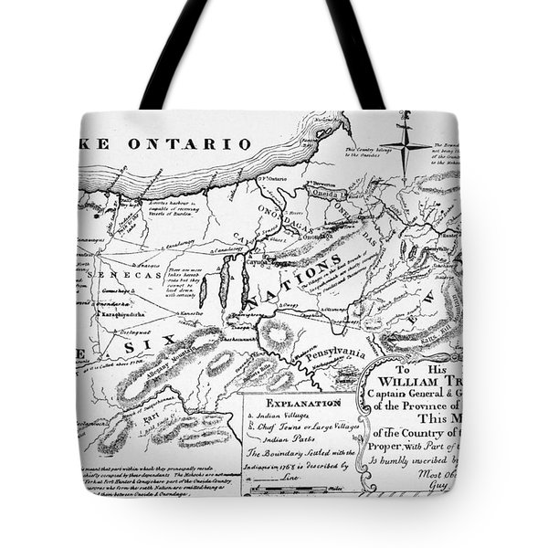 Six Nations Map 1771 Tote Bag by Granger