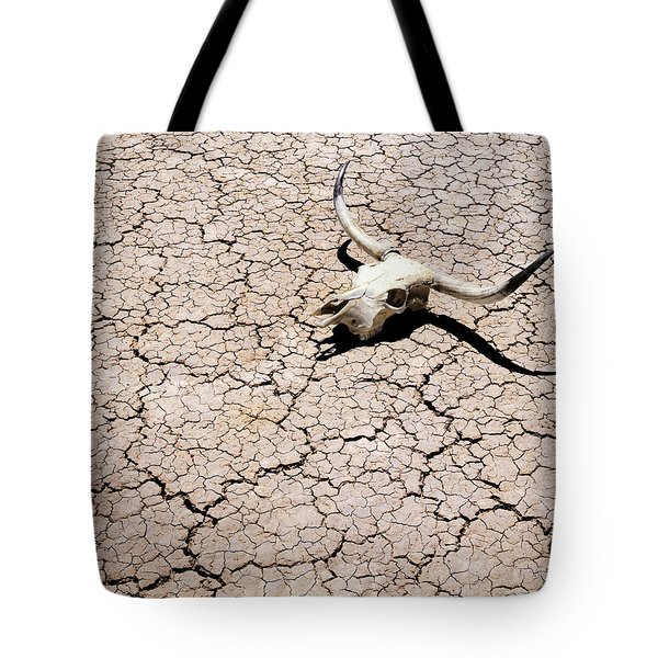 Skull in Desert 2 Tote Bag by Kelley King