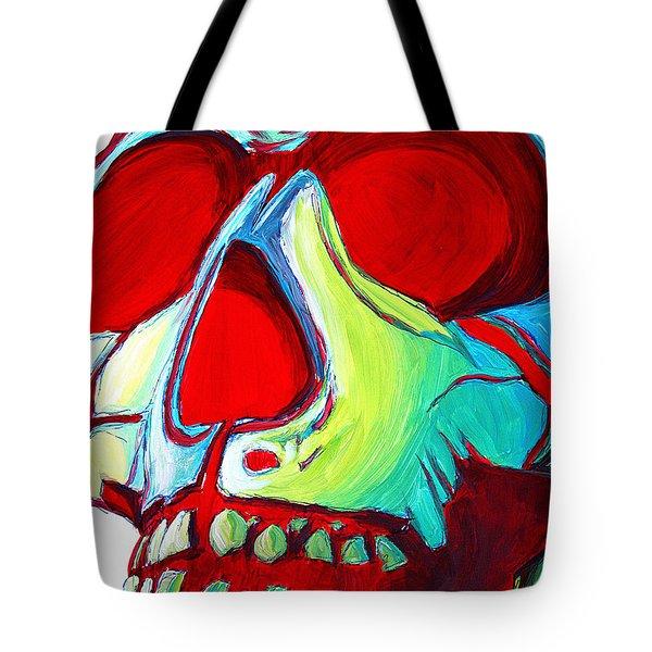 Skull Original Madart Painting Tote Bag by Megan Duncanson