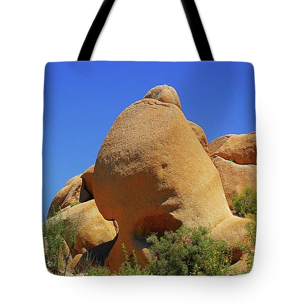 Skull Rock Joshua Tree National Park California Tote Bag by Christine Till