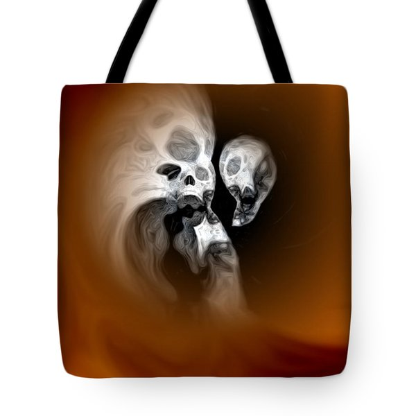 Skull Scope 2 Tote Bag by Adam Vance