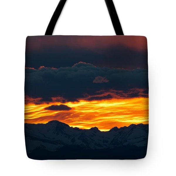 Sky Lava Tote Bag by Colleen Coccia