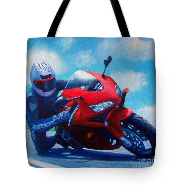 Sky Pilot - Honda CBR600 Tote Bag by Brian  Commerford