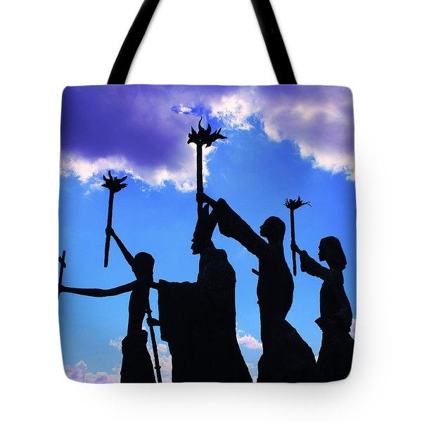 Sky Statues Tote Bag by Perry Webster