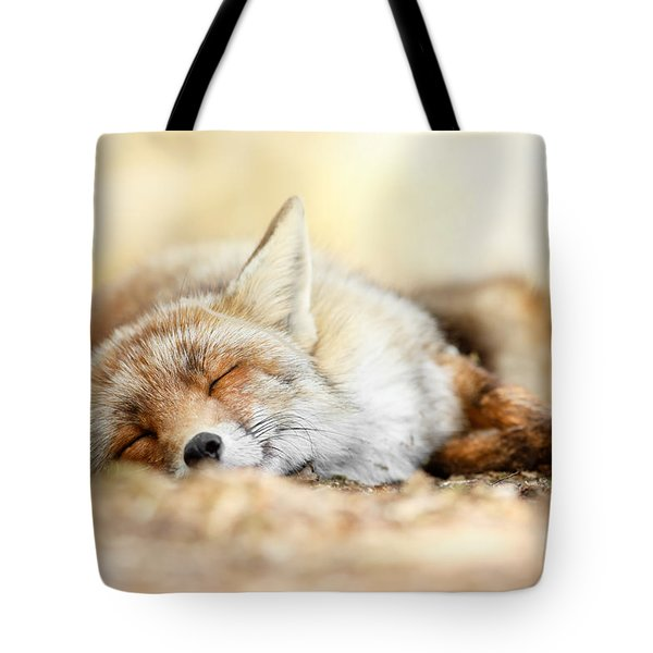 Sleeping Beauty -red Fox In Rest Tote Bag by Roeselien Raimond