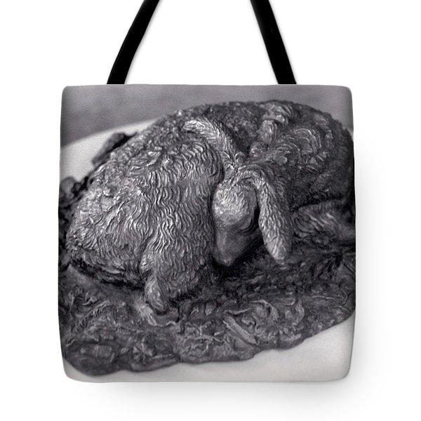 Sleeping Fawn Tote Bag by Dawn Senior-Trask