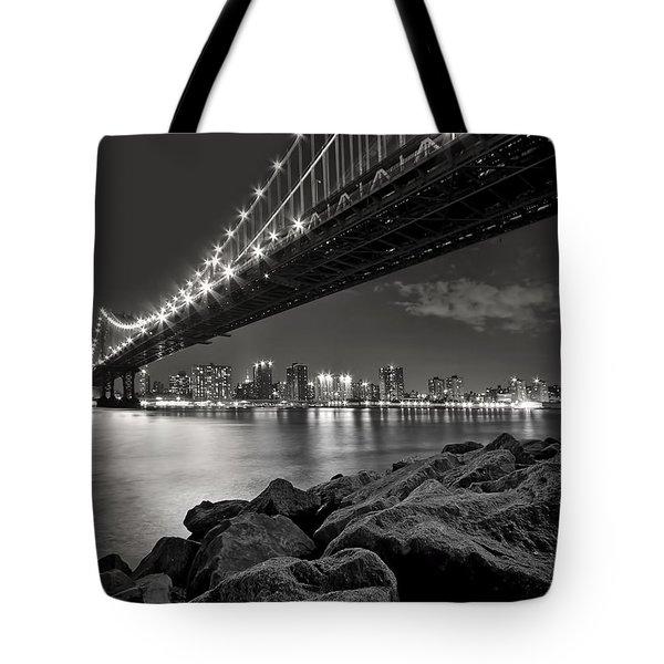 Sleepless Nights And City Lights Tote Bag by Evelina Kremsdorf