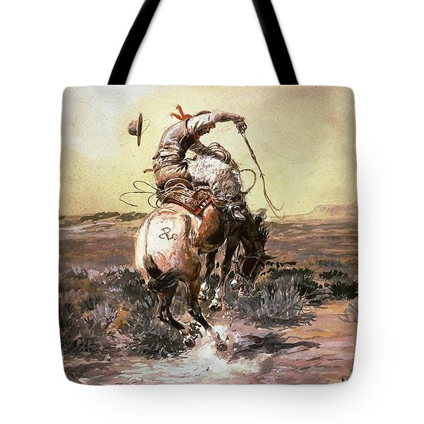 Slick Rider Tote Bag by Charles Russell