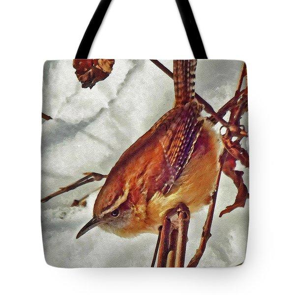 Slim Pickens, Carolina Wren Tote Bag by Ken Everett