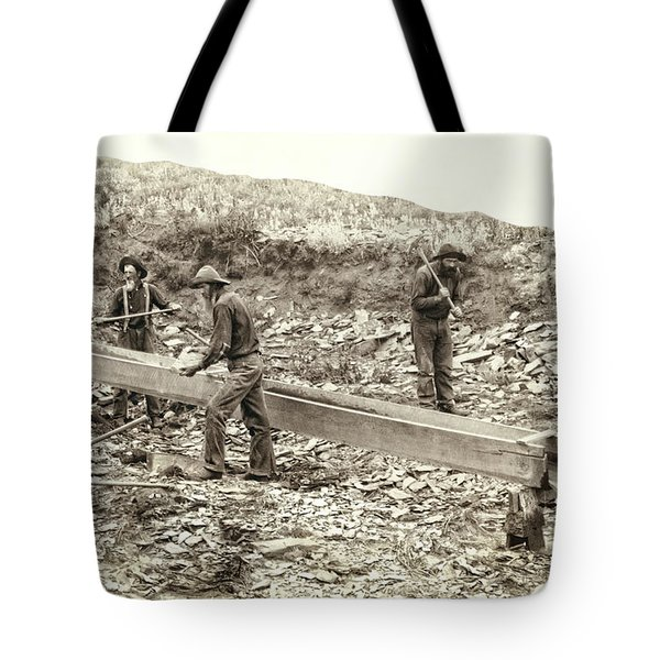 Sluice Box Placer Gold Mining C. 1889 Tote Bag by Daniel Hagerman