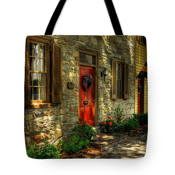Small Town Usa Tote Bag by Lois Bryan