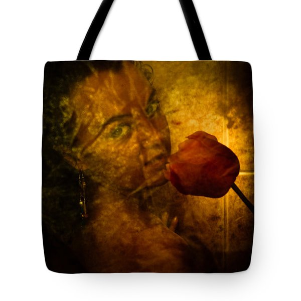 Smelling The Flowers Tote Bag by Scott Sawyer