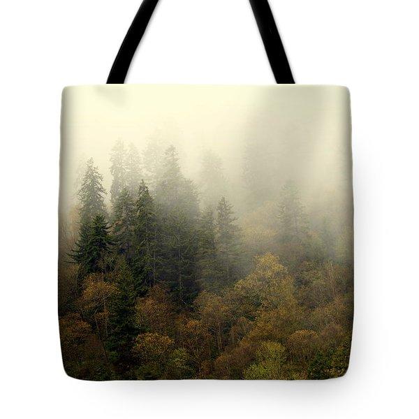 Smoky Mount Horizontal Tote Bag by Marty Koch