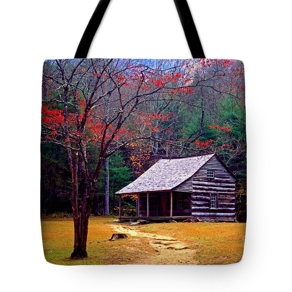 Smoky Mtn. Cabin Tote Bag by Paul W Faust -  Impressions of Light