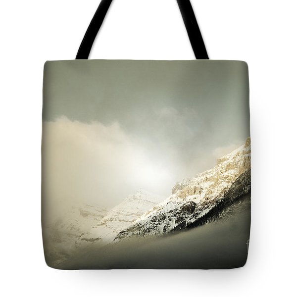Snow Capped Banff Tote Bag by Andrea Hazel Ihlefeld