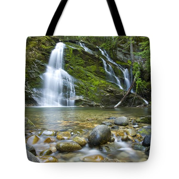 Snow Creek Falls Tote Bag by Idaho Scenic Images Linda Lantzy