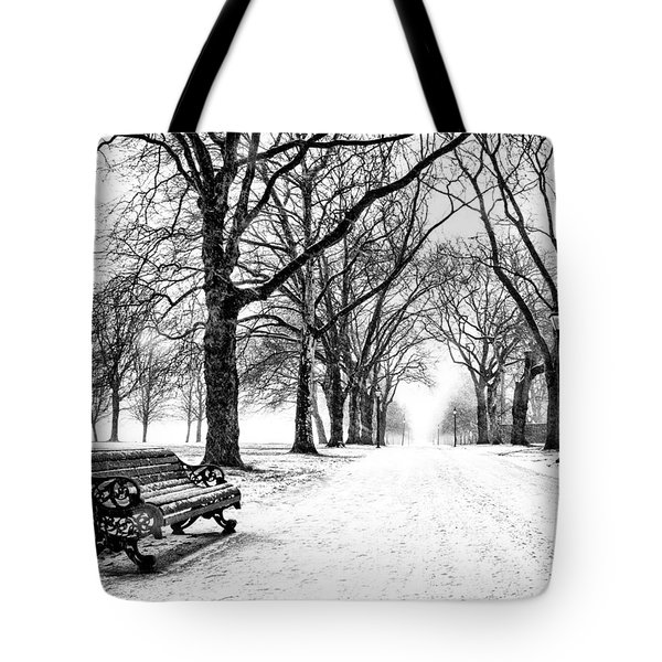 Snow Day Tote Bag by Dominic Piperata