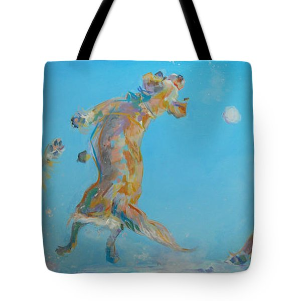 Snow Much Fun Tote Bag by Kimberly Santini