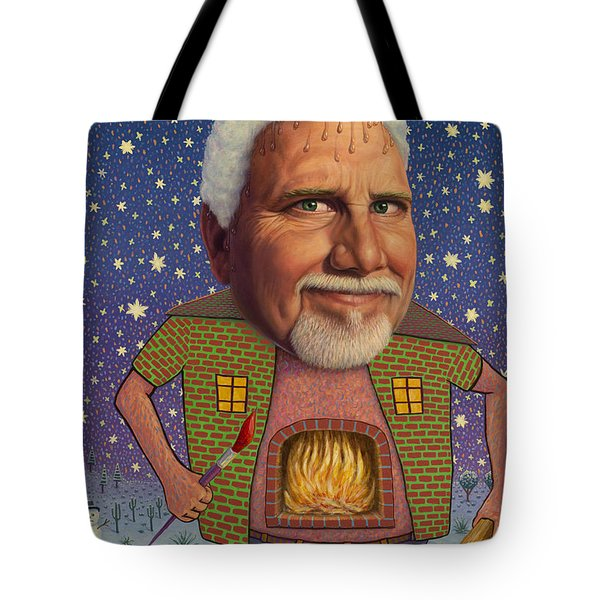 Snow on the roof... Tote Bag by James W Johnson