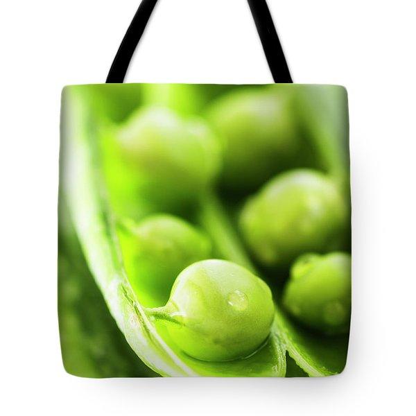 Snow Peas Or Green Peas Seeds Tote Bag by Vishwanath Bhat