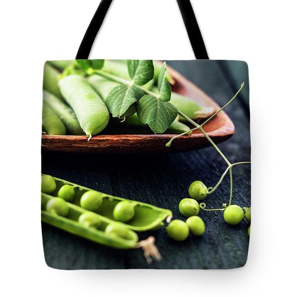 Snow Peas Or Green Peas Still Life Tote Bag by Vishwanath Bhat