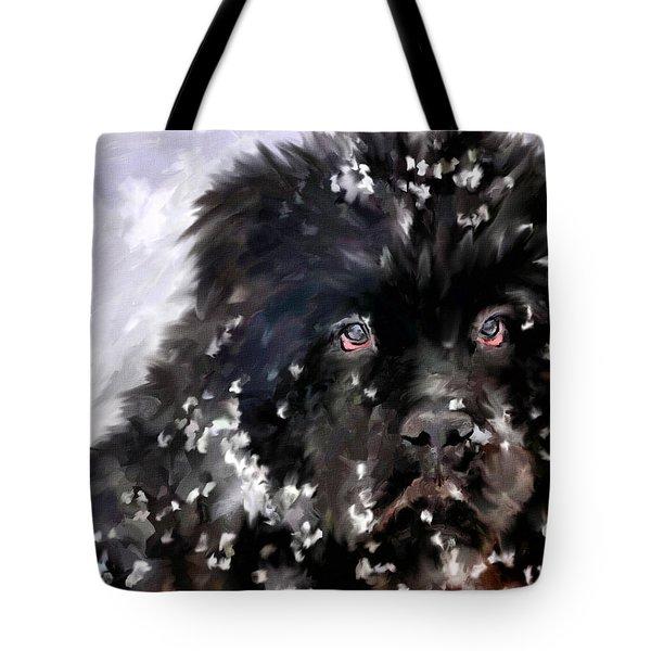 Snow Play Tote Bag by Jai Johnson