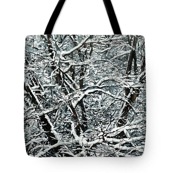 Snow Tree Tote Bag by Nadi Spencer