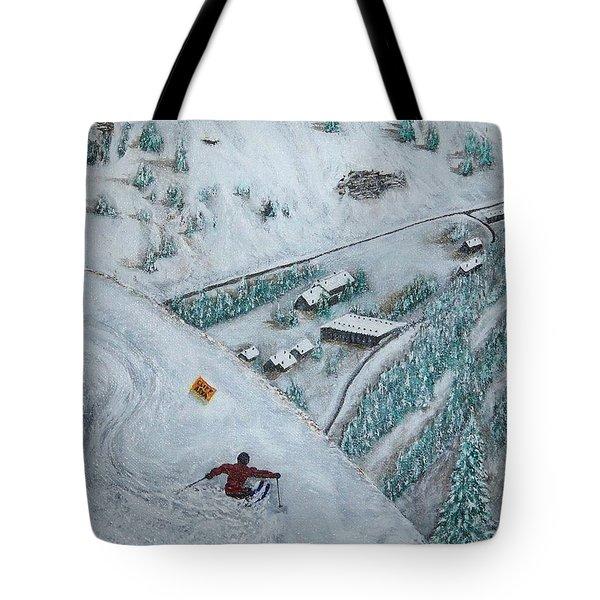 Snowbird Steeps Tote Bag by Michael Cuozzo