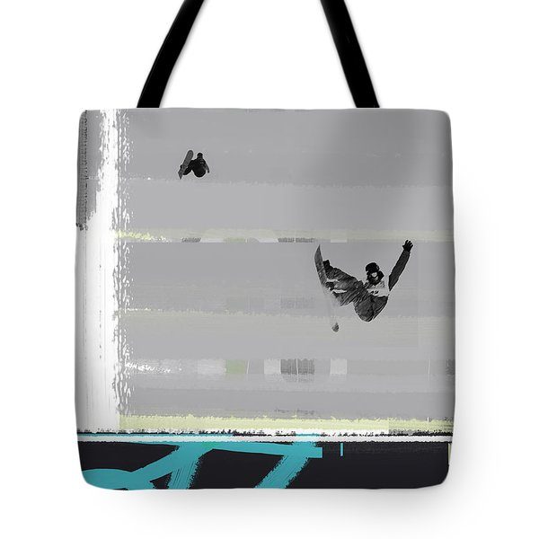 Snowboarding Tote Bag by Naxart Studio