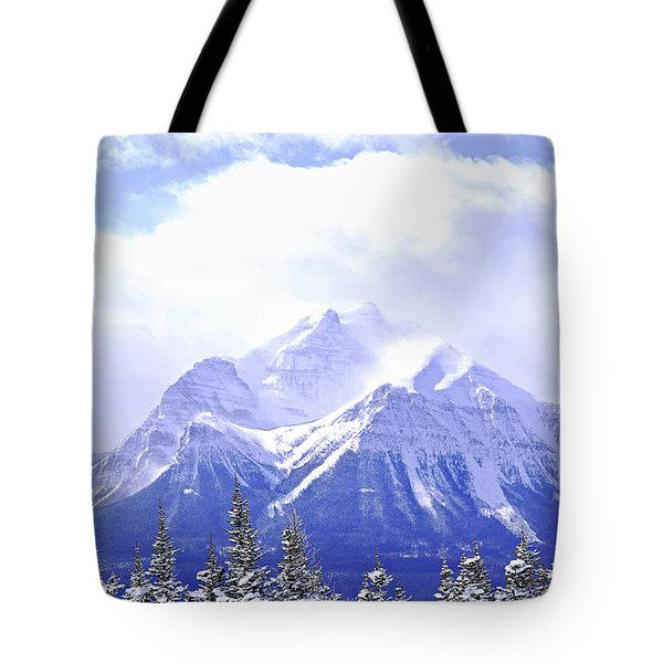 Snowy mountain Tote Bag by Elena Elisseeva