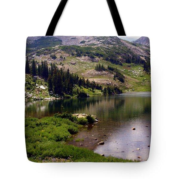 Snowy Moutain Loop 7 Tote Bag by Marty Koch