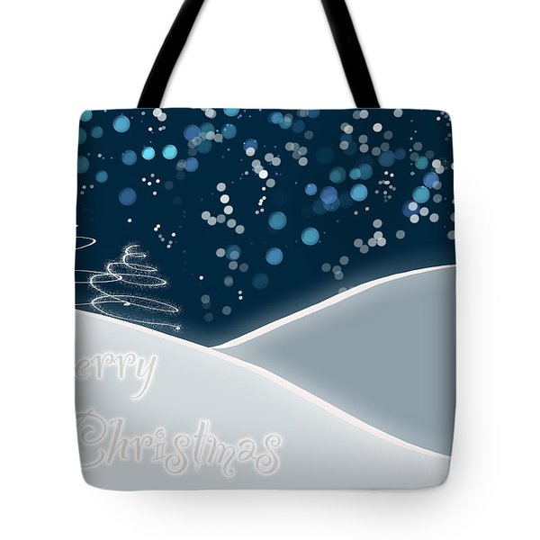 Snowy Night Christmas Card Tote Bag by Lisa Knechtel