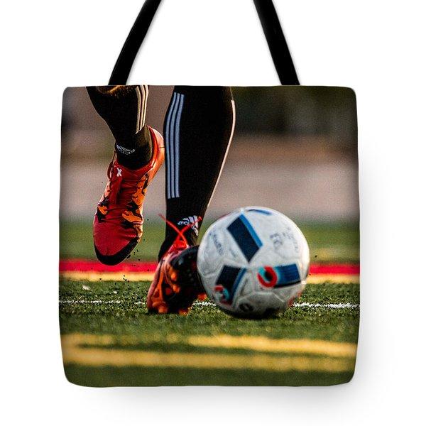 Soccer Tote Bag by Hyuntae Kim