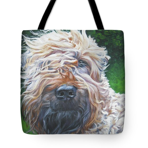 Soft Coated Wheaten Terrier Tote Bag by Lee Ann Shepard
