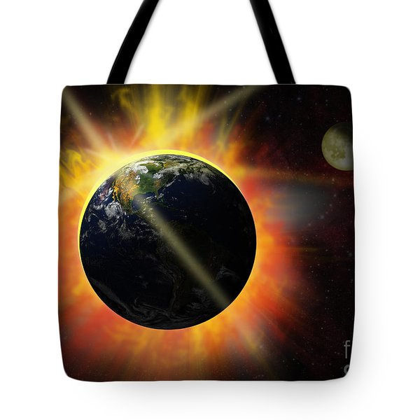 Solar Flare Tote Bag by Michal Boubin