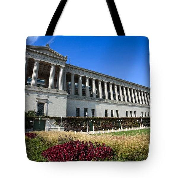 Soldier Field Chicago Bears Stadium Tote Bag by Paul Velgos