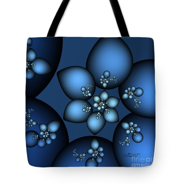 Something Blue Tote Bag by Jutta Maria Pusl