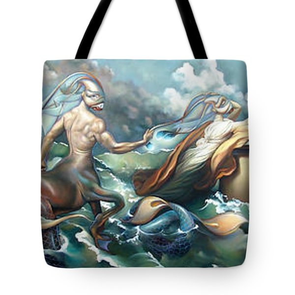 Something Fowl Afloat 2b Tote Bag by Patrick Anthony Pierson