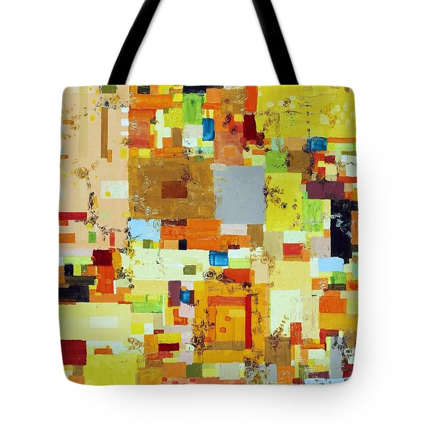 Song of Solar Fusion Tote Bag by Regina Valluzzi
