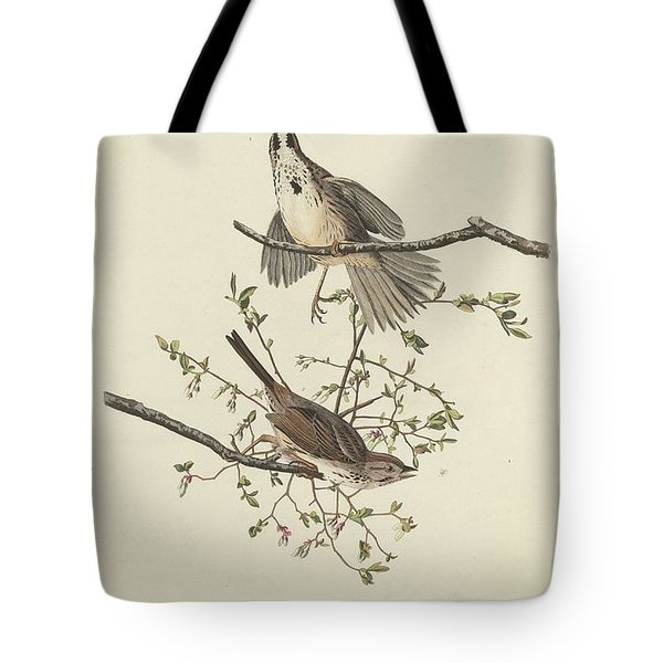 Song Sparrow Tote Bag by John James Audubon