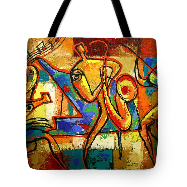 Soul Jazz Tote Bag by Leon Zernitsky
