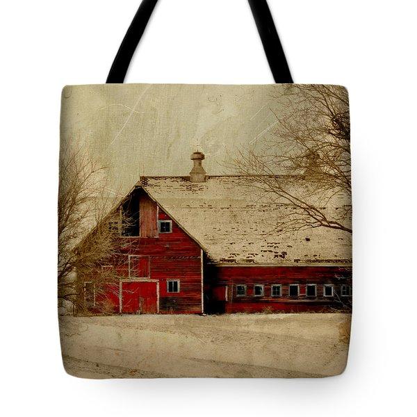 South Dakota Barn Tote Bag by Julie Hamilton