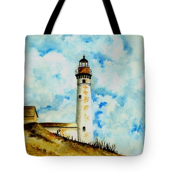 South Manitou Island Lighthouse Tote Bag by Michael Vigliotti