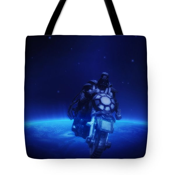 Space Cowboy Tote Bag by Bill Cannon