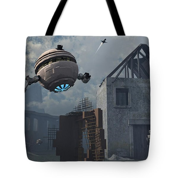 Space Probes And Androids Survey An Tote Bag by Mark Stevenson